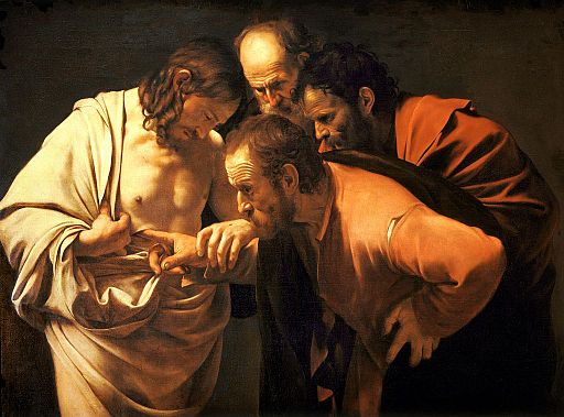 The Incredulity of Saint Thomas Caravaggio 1601 2